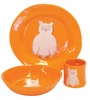 Orange Owl Character Personalized Ceramic Dish Collection