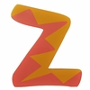 Orange & Pink Zig Zag Wall Letter -  Z