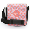 Orange Quatrefoil Monogram Sling Bag