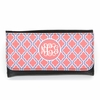 Orange Quatrefoil Monogram Wallet