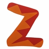 Orange & Red Zig Zag Wall Letter - Z