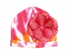 Orange Tie Dye Hat with Raspberry Rose