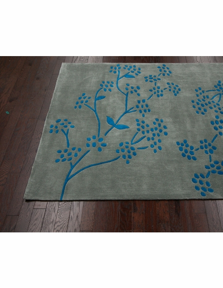 Orchidia Rug in Blue