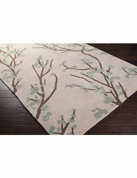 Oregano and Parchment Branches Hudson Park Rug