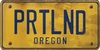 Oregon Custom License Plate Art