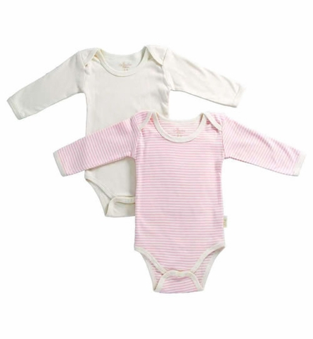 Organic Cardigan, Pant and 2-Piece Romper Set in Salmon