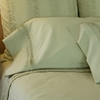 Organic Celery Percale Fitted Sheet