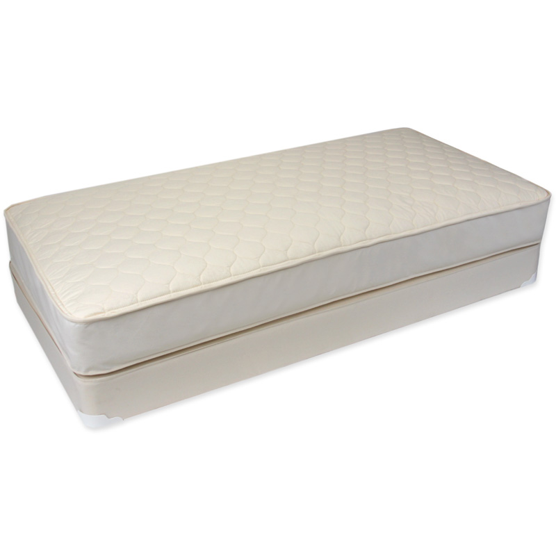 Product Description. The award winning Naturepedic Crib Mattresses combine natural, non toxic and healthy materials. Naturepedic features U.S. grown organic cotton filling (NO polyurethane foam).
