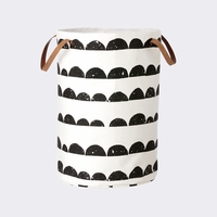 Organic Cotton Half Moon Laundry Basket By Ferm LIVING