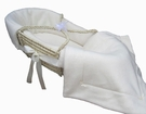 Organic Cream Sateen Moses Basket Set