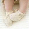 Organic Hand-Knit Lace Baby Booties