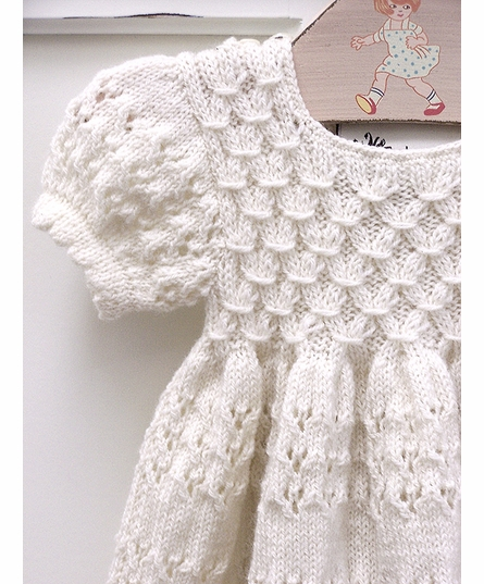 Organic Hand-Knit Long Sleeve Smock Dress