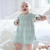 Organic Hand-Knit Smocked Lucy Dress