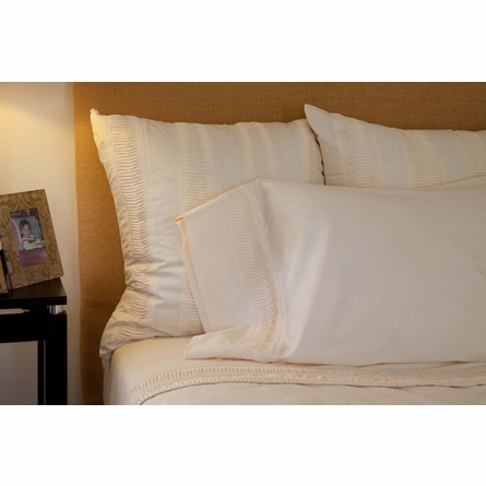Organic Oyster Percale Euro Sham