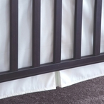 Organic Percale White Crib Skirt