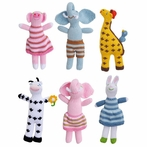 Original Animal Rattles - Set of Six