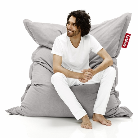 Fatboy The Original Stonewashed Silver Grey Beanbag
