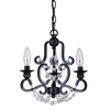 Orleans Three Light English Bronze Mini Chandelier