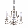 Orleans Three Light Olde Silver Mini Chandelier