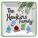 Ornaments Family Personalized Platter