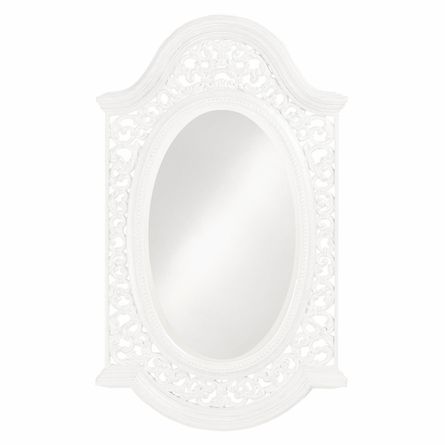 Ornate Framed Oval Mirror