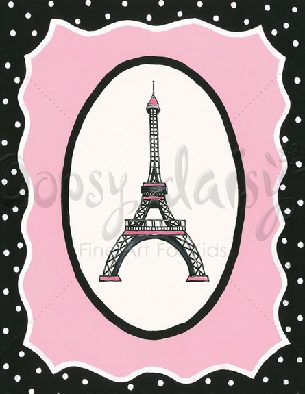 Oui Paris Eiffel Tower Canvas Wall Art