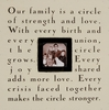 Our Family is a Circle of Strength Square Picture Frame