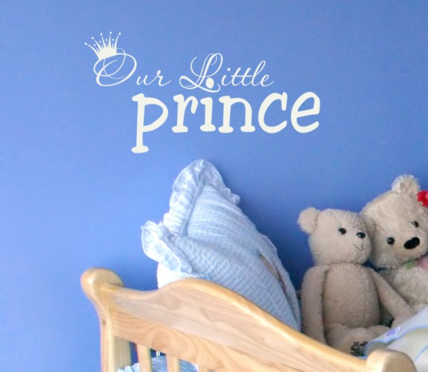 Our Little Prince Wall Decal by Alphabet Garden Designs