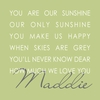 Our Sunshine Green Canvas Wall Art