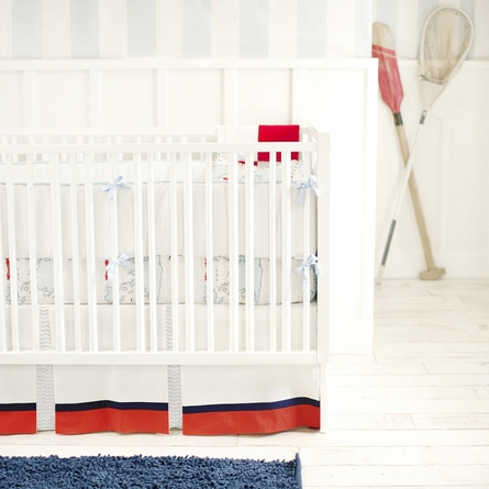 Out to Sea in Blue Crib Bedding Set
