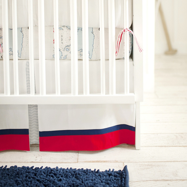 out to sea in blue crib skirt by new arrivals inc