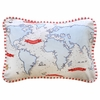 Out to Sea in Blue Throw Pillow
