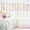 Out to Sea in Pink Crib Skirt