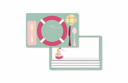 Out To Sea Personalized Kids Reversible Placemat