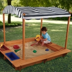 Outdoor Sandbox with Canopy