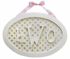 Oval Monogram Wall Plaque