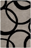 Overlapping Circles Rug in Graphite
