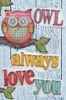 Owl Always Love Collage Canvas Wall Art