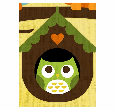 Owl Baby Love Canvas Reproduction
