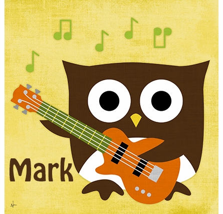 Owl Band Bassist Canvas Reproduction