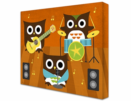 Owl Band Canvas Reproduction