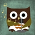 Owl Band Crooner Canvas Reproduction