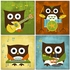 Owl Band Drummer Canvas Reproduction