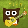 Owl Band Guitarist Canvas Reproduction