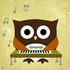 Owl Band Keyboardist Canvas Reproduction