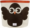 On Sale 3 Sprouts Owl Canvas Storage Bin