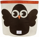 3 Sprouts Owl Canvas Storage Bin