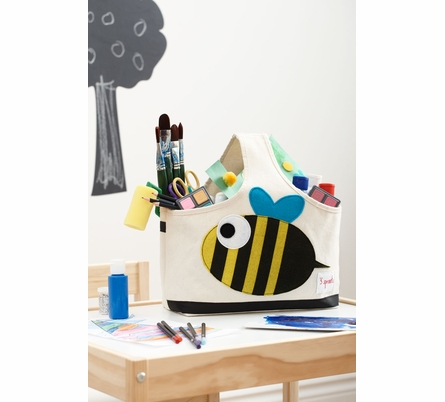 3 Sprouts Owl Canvas Storage Caddy