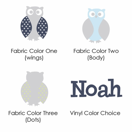 Owl Family Boy Fabric Wall Decal