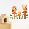 Owl Family Fabric Wall Decals